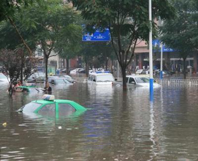 2008.8.14暴雨中的石家庄