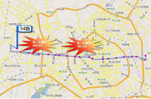 沿人民西路,人民中路,人民东路这条横贯昆明市区的最